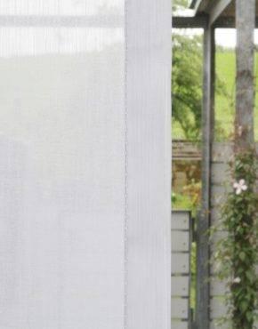 Flächenvorhang STUTTGART Weiss Detail ...