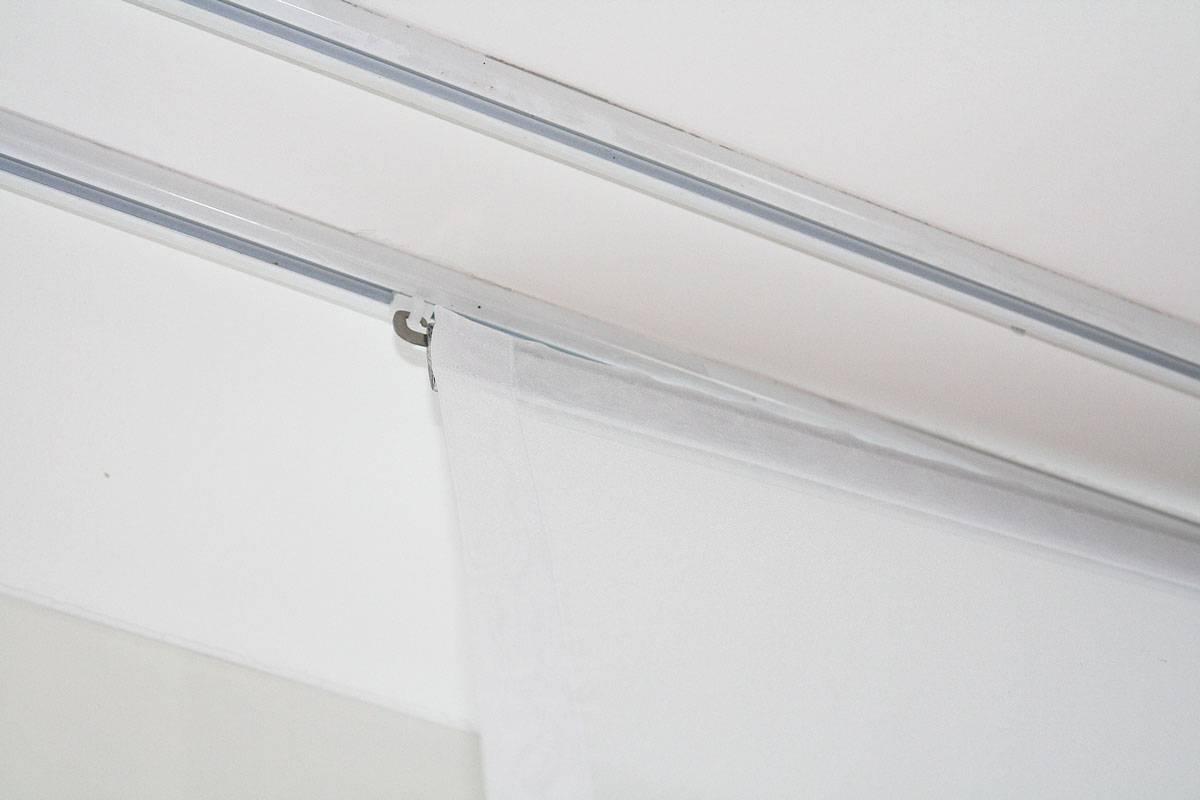 fl chenvorhang geneva weiss und ecru weiss transparent. Black Bedroom Furniture Sets. Home Design Ideas