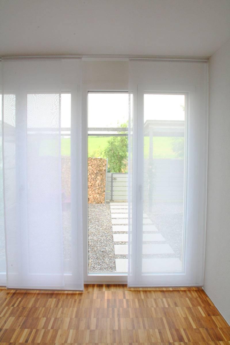 fl chenvorhang wien f r berh hen weiss und ecru weiss transparent. Black Bedroom Furniture Sets. Home Design Ideas