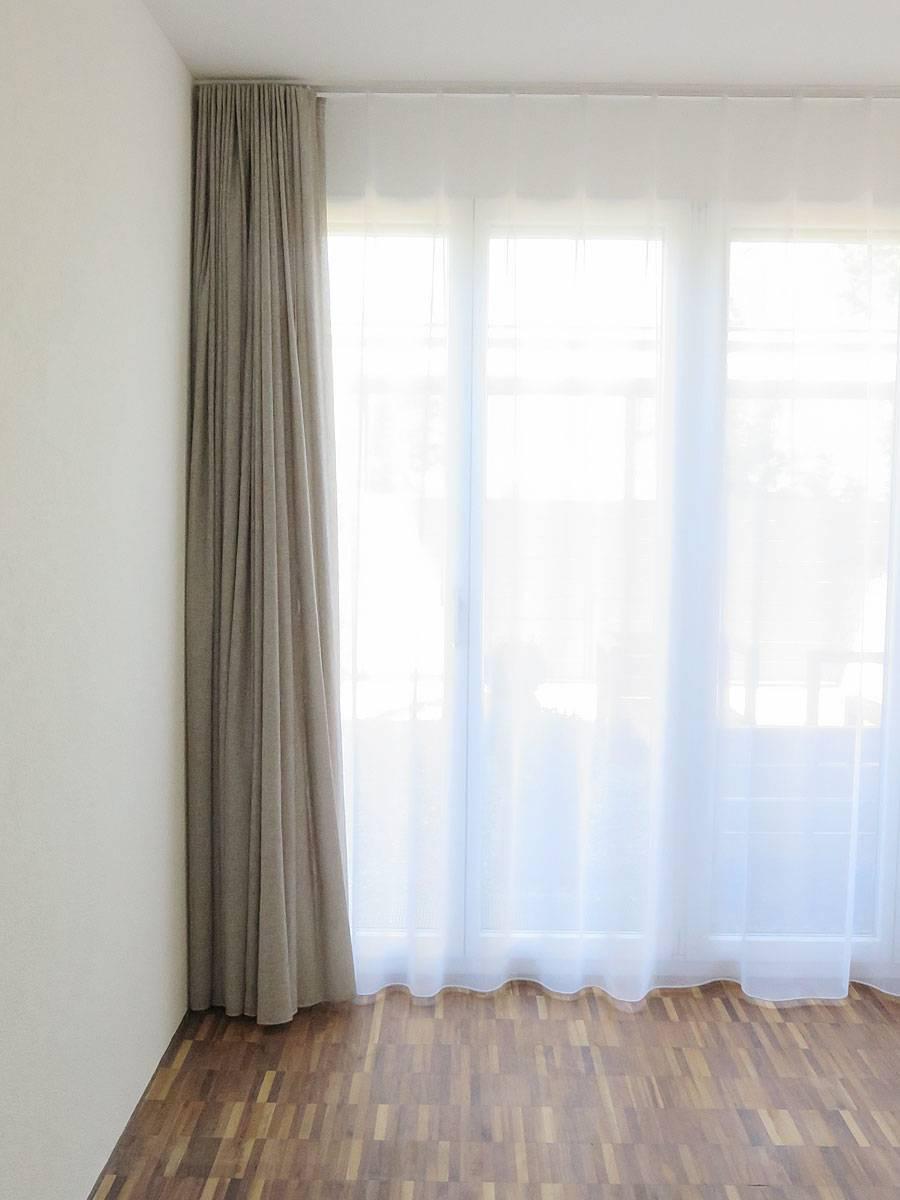 dekovorhang new york modern beige hellbeige grau. Black Bedroom Furniture Sets. Home Design Ideas