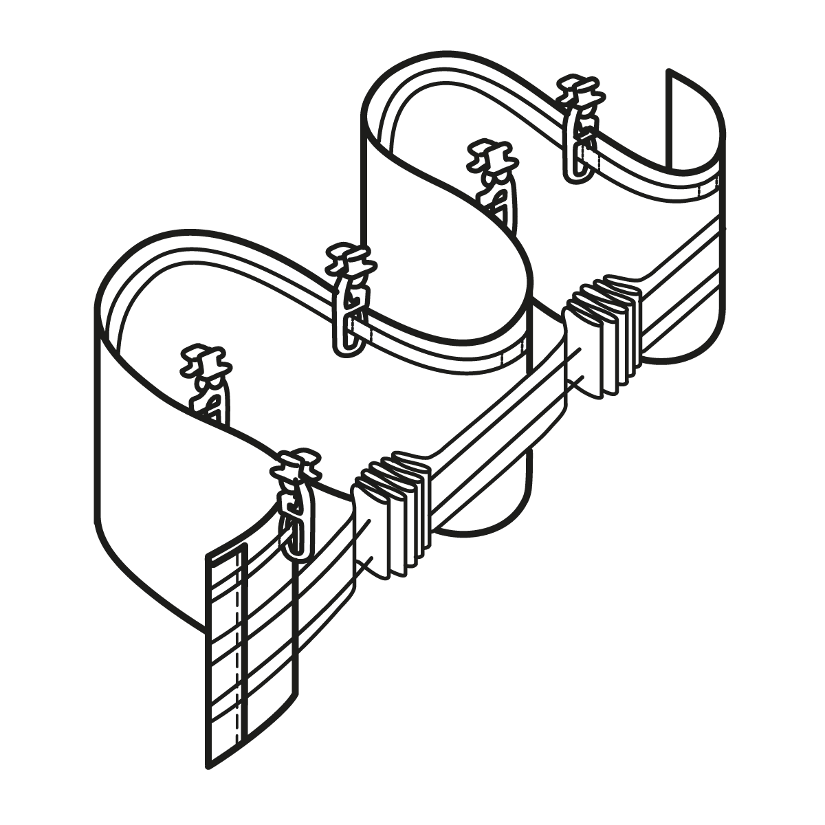 anleitung vorhang mit wellenband. Black Bedroom Furniture Sets. Home Design Ideas