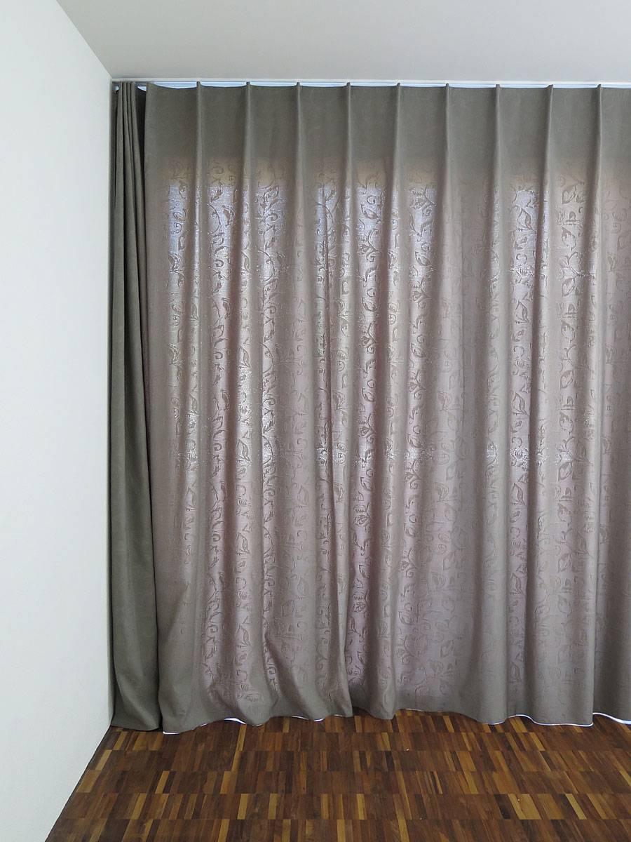 blickdichter Vorhang VENEZIA [Ornamente braun]
