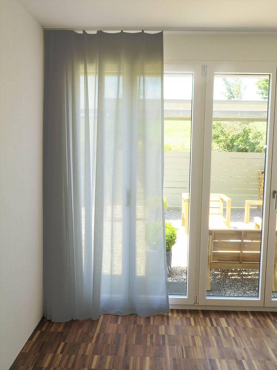 gardine store palermo leinenoptik weiss gelb beige. Black Bedroom Furniture Sets. Home Design Ideas