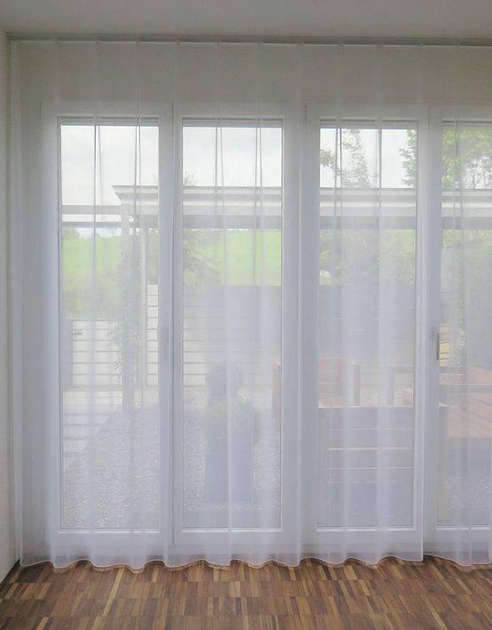 gardine store rom leinenoptik weiss ecru weiss. Black Bedroom Furniture Sets. Home Design Ideas