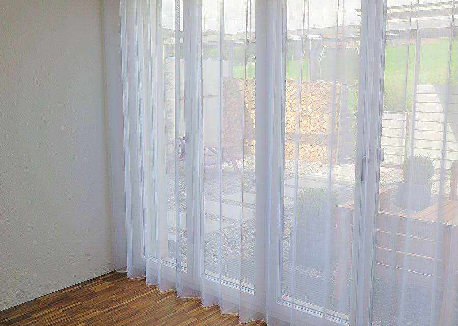 gardine store rom leinenoptik weiss wellenvorhang. Black Bedroom Furniture Sets. Home Design Ideas