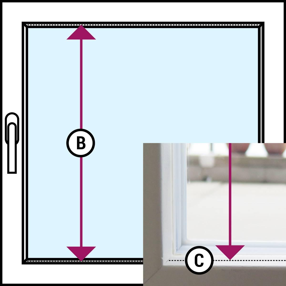 pliss e h he und breite richtig messen bb24. Black Bedroom Furniture Sets. Home Design Ideas