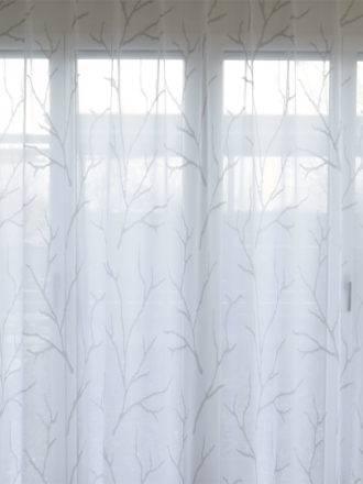 Farbe weiß Voile-Fertigstore Zypern mit Ösen