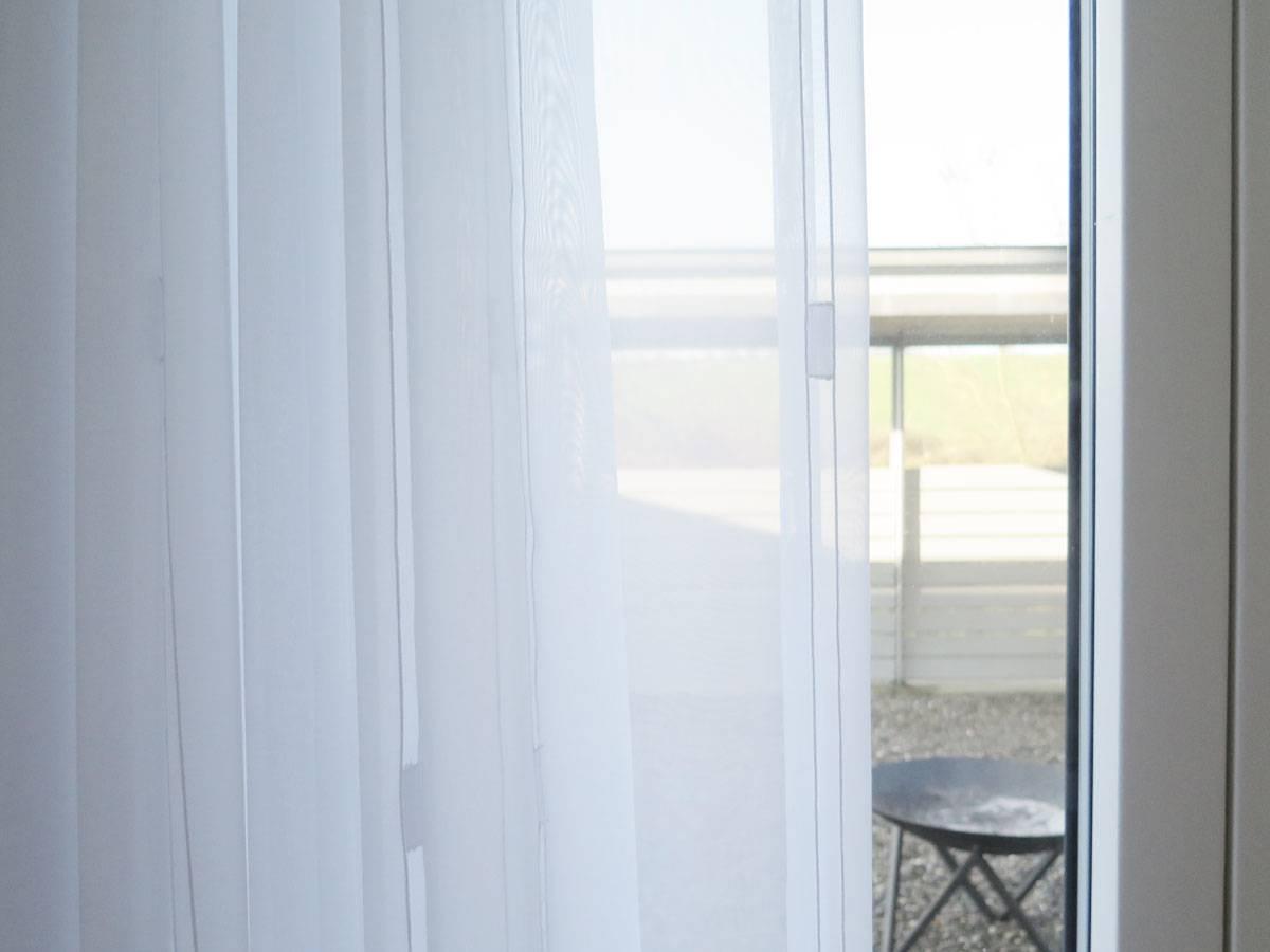 gardine (store) lissabon [doppel-längsstreifen, weiss / ecru weiss, Wohnzimmer dekoo