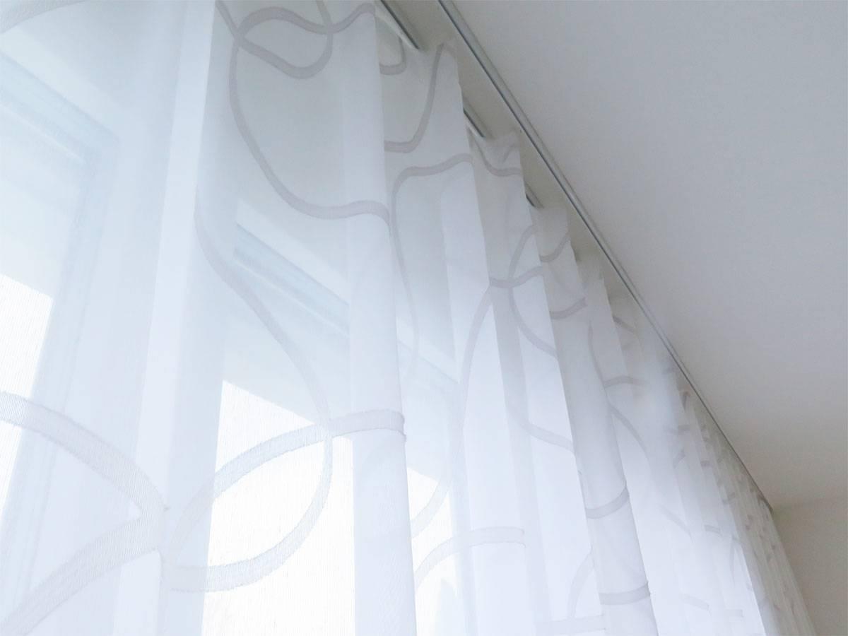 Store (Gardine) SIDNEY [Kurvenmuster, weiß/weiß, weiß/beige