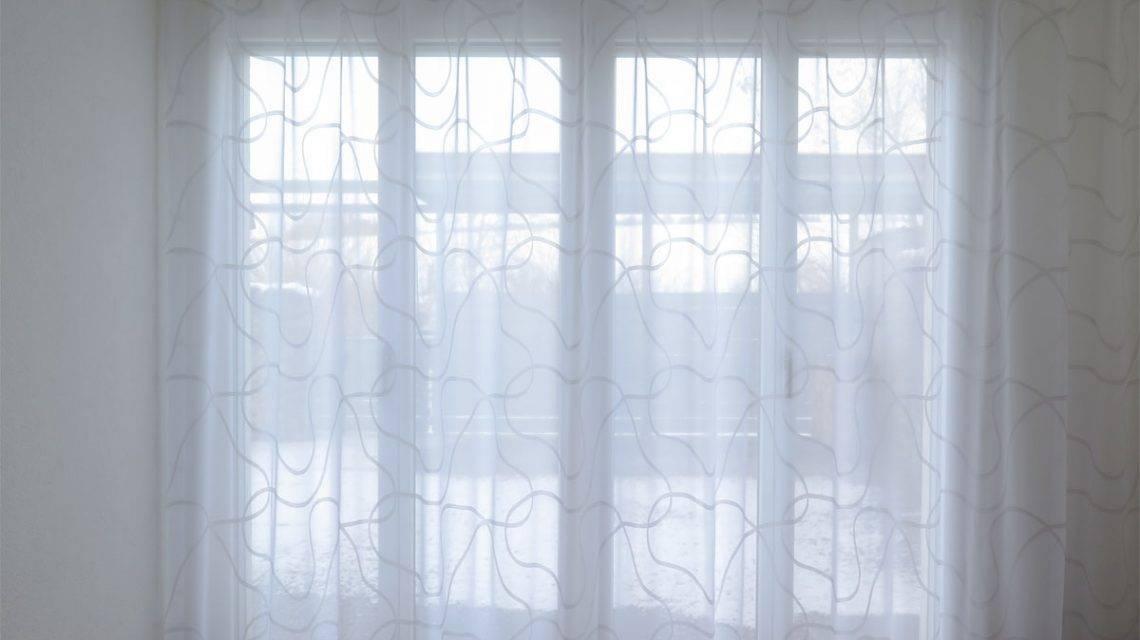 kurvenmuster wei e gardine sidney mit wellenmuster kaufen. Black Bedroom Furniture Sets. Home Design Ideas