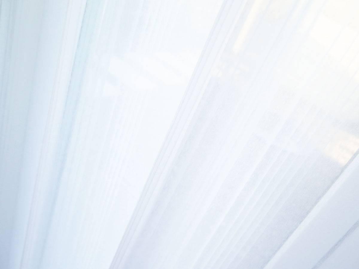 Gardine (Store) CANNES [Längsstreifen, weiss / ecru weiss