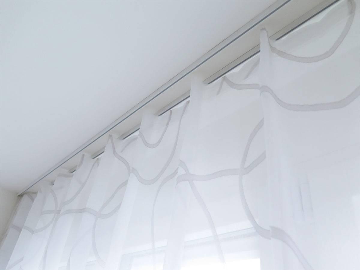 top verarbeitet wei e gardine sidney wellenmuster kaufen 1. Black Bedroom Furniture Sets. Home Design Ideas