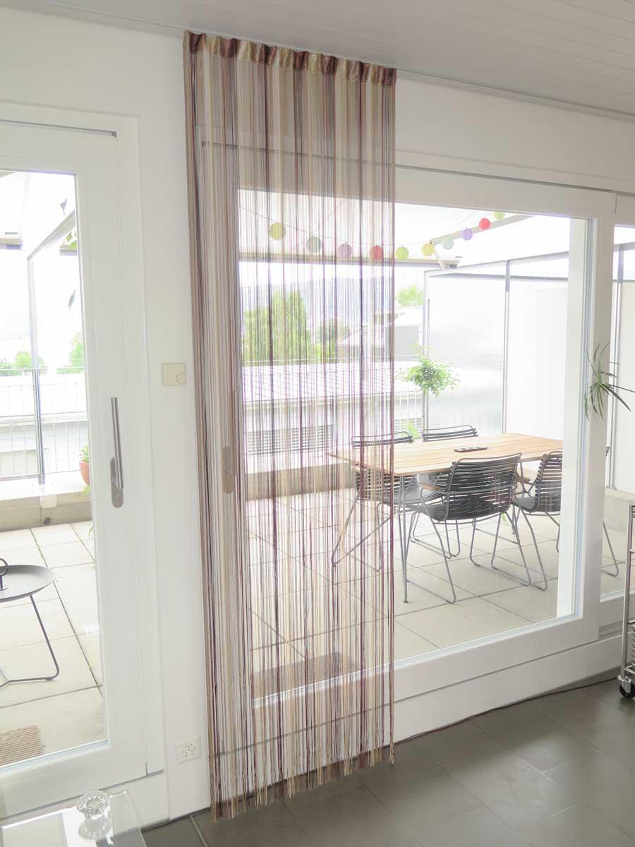 fadenvorhang lazise t rvorhang in beige braun. Black Bedroom Furniture Sets. Home Design Ideas