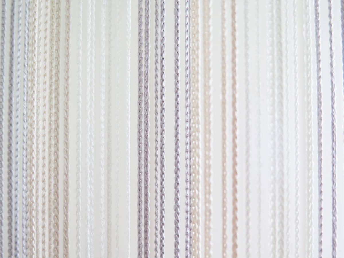 fadenvorhang lazise t rvorhang in weiss beige silber. Black Bedroom Furniture Sets. Home Design Ideas