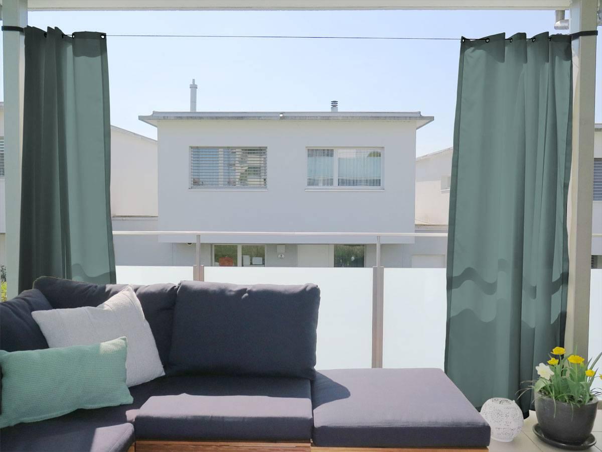 outdoor vorhang santorini nach mass beige hellgrau. Black Bedroom Furniture Sets. Home Design Ideas