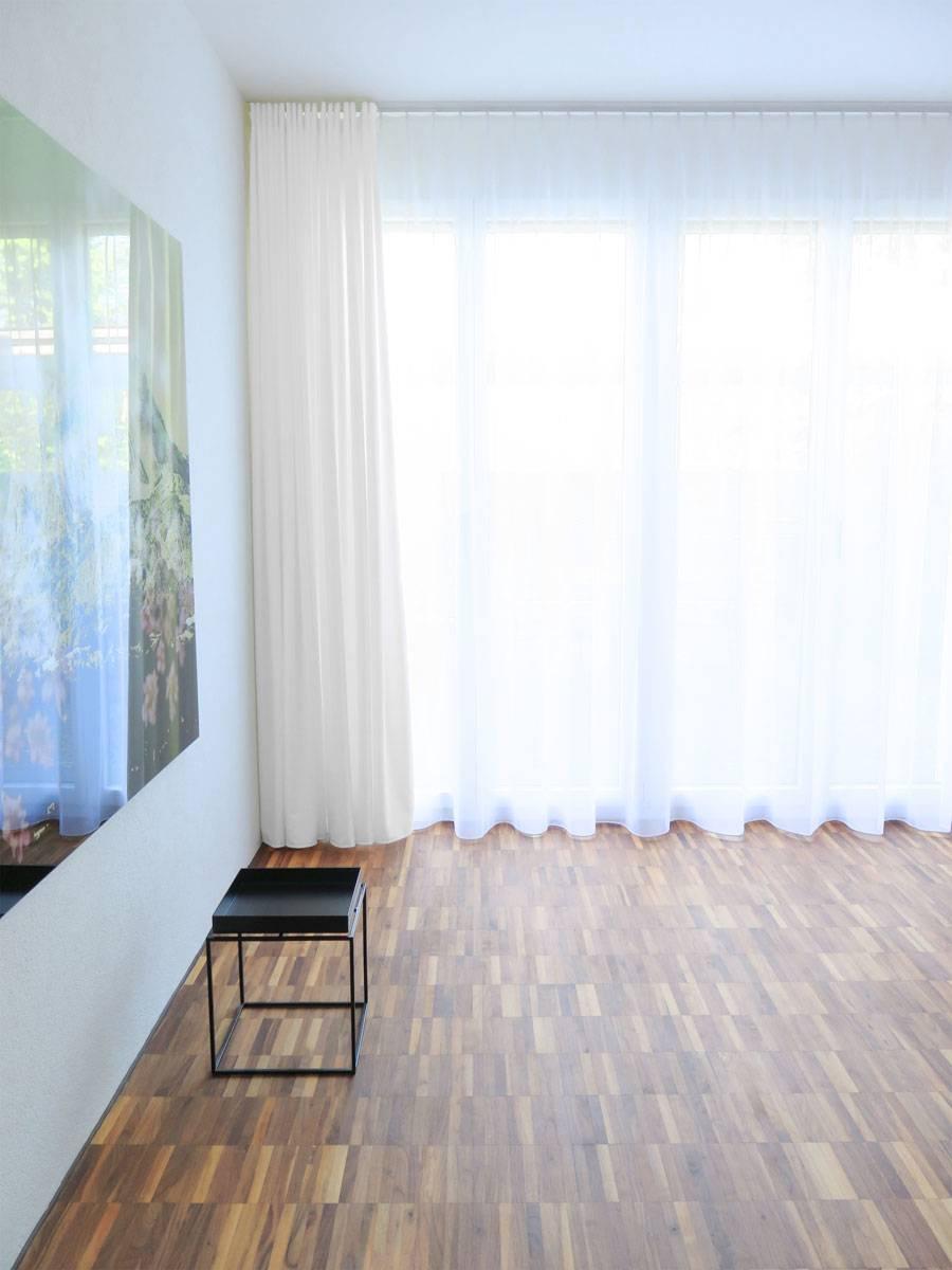Vorhang Blickdicht Lichtdurchlässig blickdichter vorhang zug feiner stoff weiß cremeweiß chagner