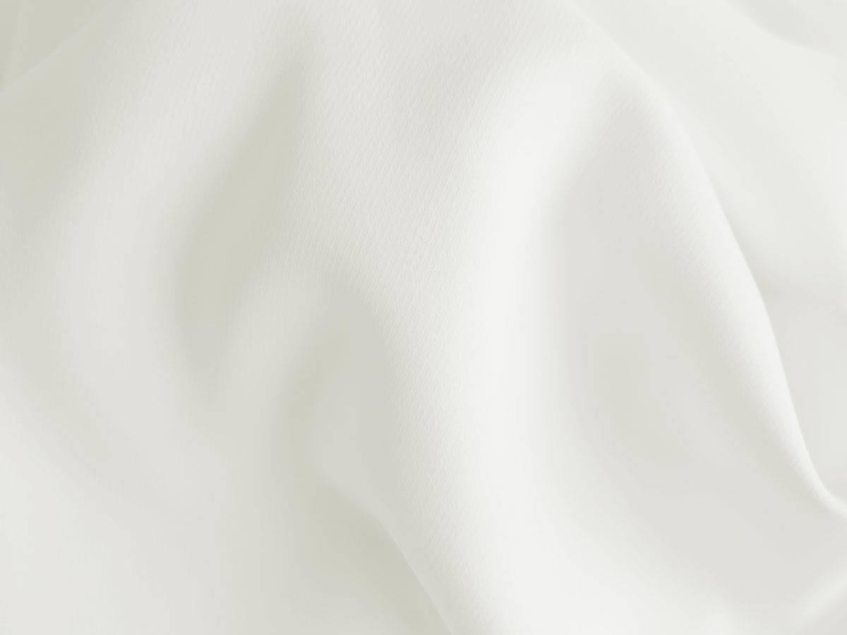 Stoffmuster weißer blickdichter Vorhang ZUG mit starkem