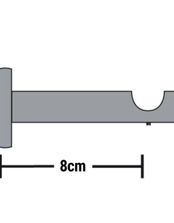 Gardinenstange einzeln f r wandmontage edelstahl optik 120cm 160cm 200cm 240cm - Gardinenstange wandmontage ...