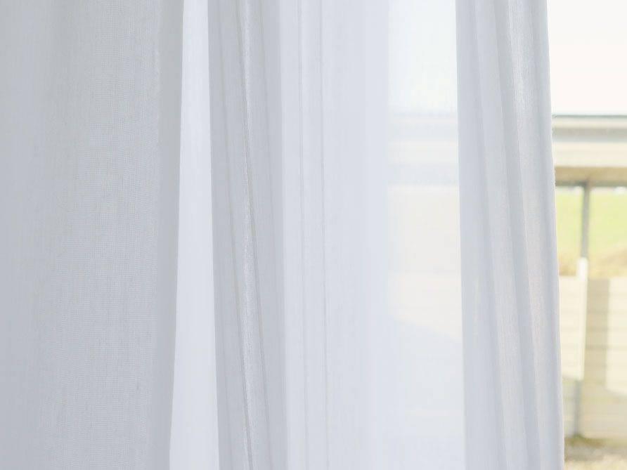 Weisser Vorhang Badezimmer