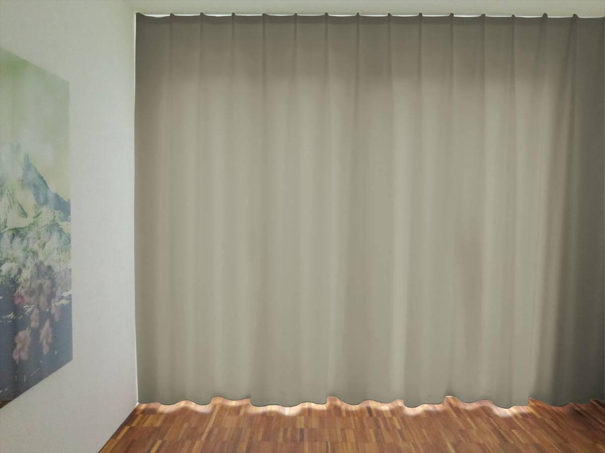 Schlafzimmer Einrichten Nachtvorhang Lugano Grau Blickdicht Edler Glanz Vorhang123 At